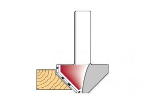 Fasefräser 45° mit Grundschneide