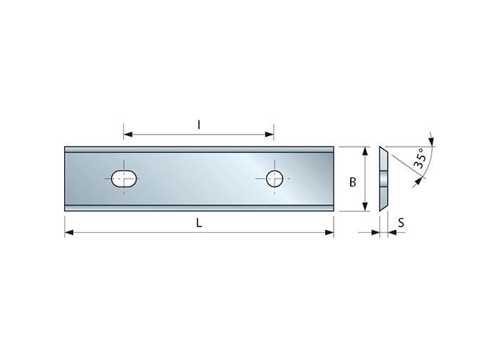 Wendemesser HM 40 x 12 x 1,5 für Oberfräser