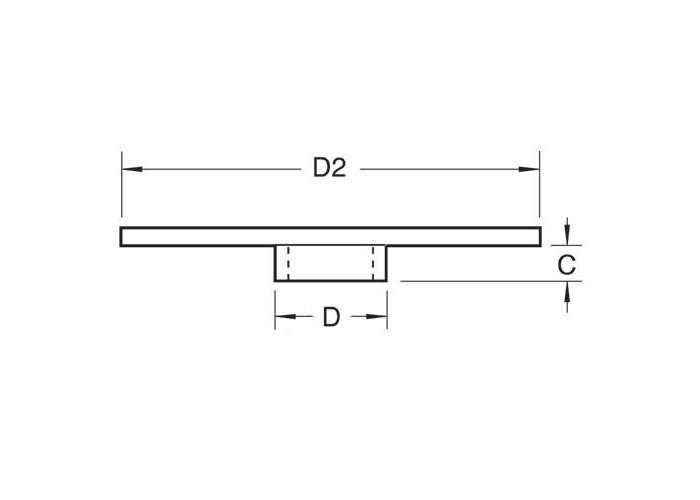Kopierhülse aus Stahl D 9,5 mm (3/8