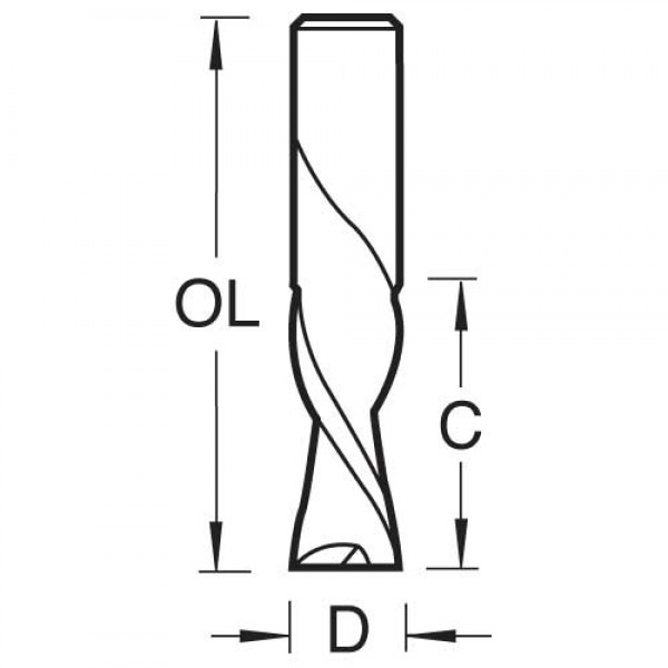 Spiralnutfräser mit Linksdrall