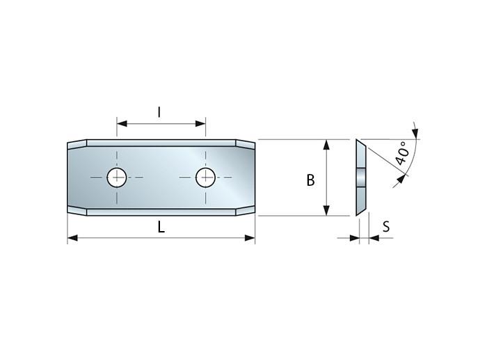 HM-Wendemesser 30 x 12 x 1,5 mm