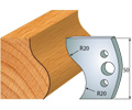 Moulding knife and deflector 50mm
