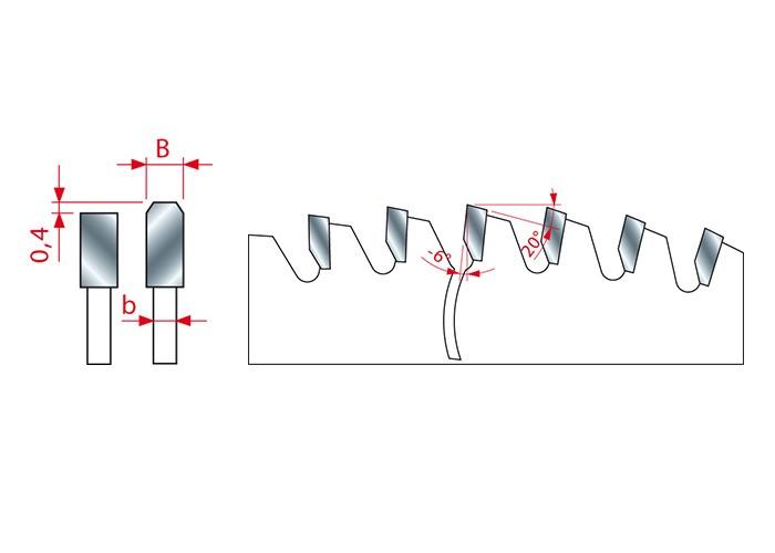 HM-Kreissägeblatt für NE-Metalle