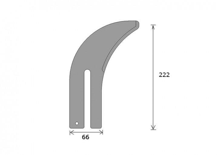 Spaltkeil GRIGGIO 222 x 66 mm