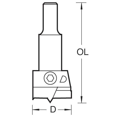 Einstellbarer Scharnierlochbohrer 30 - 60 mm
