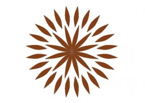Rosettenfrässchablone Sunflower
