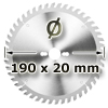 Kreissägeblatt <br/>Ø 190 x 20mm