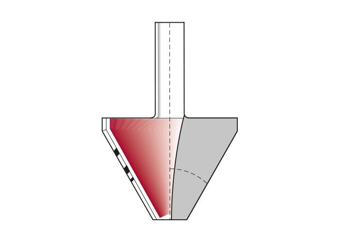 Fasefräser HW Z=2 mit großer Nutzlänge