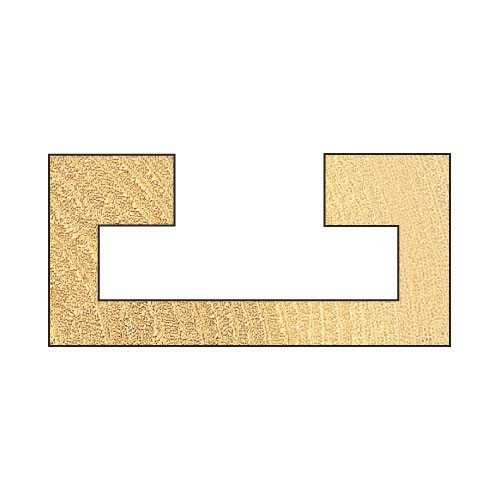 Unterschnitt-Fräser D 25,4 mm Schaft 1/4