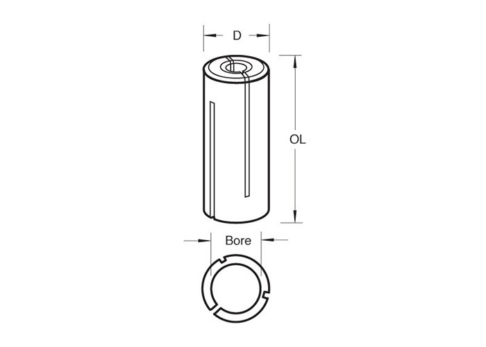 Reduzierhülse 10 auf 6 mm