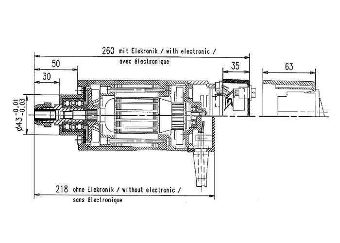 Fräsmotor Suhner UAD 25 RF