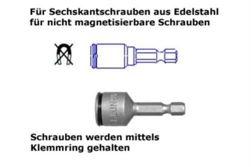 Steckschlüssel Klemmring SW 7 mm