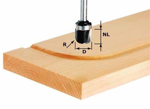 Wasserrinnenfräser HW Schaft 8 mm HW S8 R6,4 KL