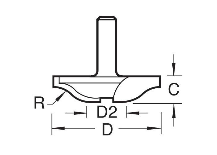 Profil-Abplattfräser
