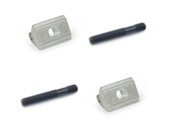 T-Nutenstein und Stiftschraube (L80) M6 im 4-tlg. Set