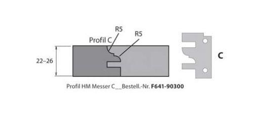HM-Profil- & Konterprofilmesser Typ C
