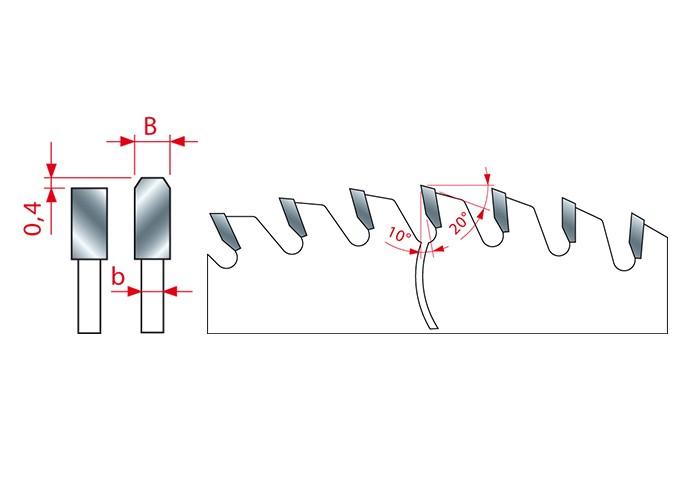 Kreissägeblatt HM 500 x 4,0/3,2 x 30 mm, Z=120
