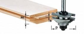 Profil-Federfräser HW Schaft 8 mm HW S8 D46 x D12-FD