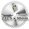 Kreissägeblatt <br/>Ø 232.5 x 30mm