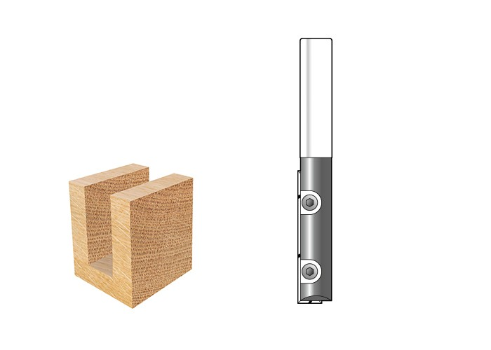 Nutfräser mit Wendeplatte Z1 D 12,7 S 12