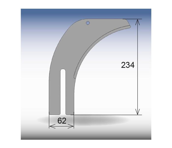 Spaltkeil GRIGGIO 234 x 62 mm
