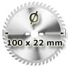 Kreissägeblatt <br/>Ø 100 x 22mm