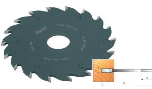 Nutsägeblatt - Nutfräser 150 x 5 x 30 mm, Z=18