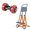 Transport Rollers and Panel Trolley
