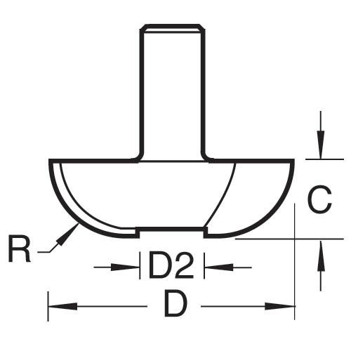 Hohlkehl-Abplattfräser