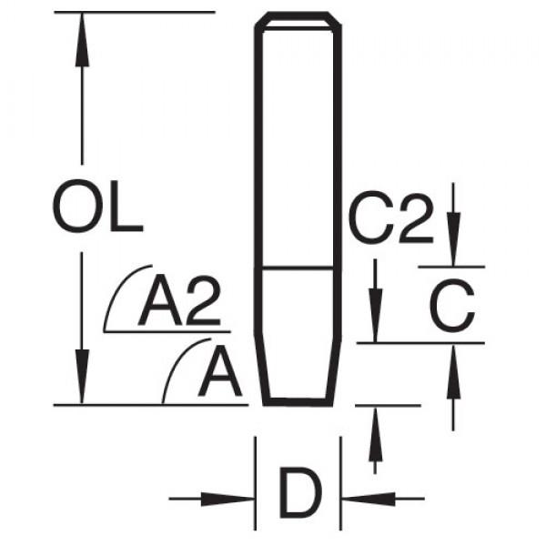 Laminat-Bündigfräser Fase