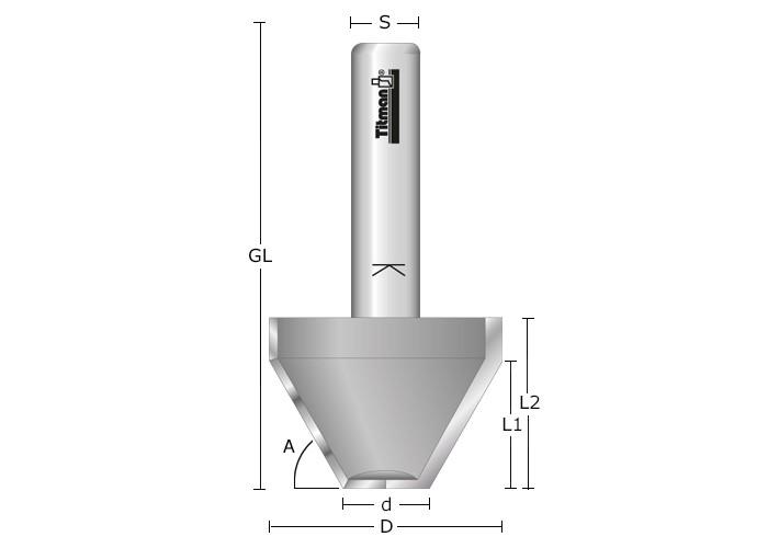 Fasefräser HW Z2 mit Bohrschneide