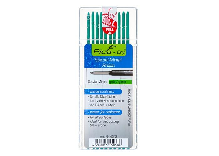 Pica Dry Spezialminen 10 Stück Grün