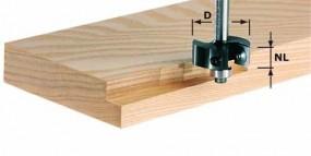 Wendeplatten-Falzfräser HW Schaft 8 mm HW S8 D38/12