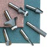 Cutters for solid surface materials