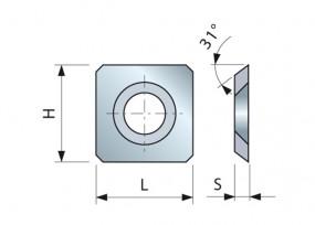 HM-Vorschneider 14 x 14 x 2 mm