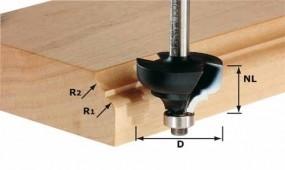 Multiprofilfräser HW Schaft 8 mm HW S8 D36,7/R6/R6