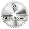 Kreissägeblatt <br/>Ø 140 x 16mm