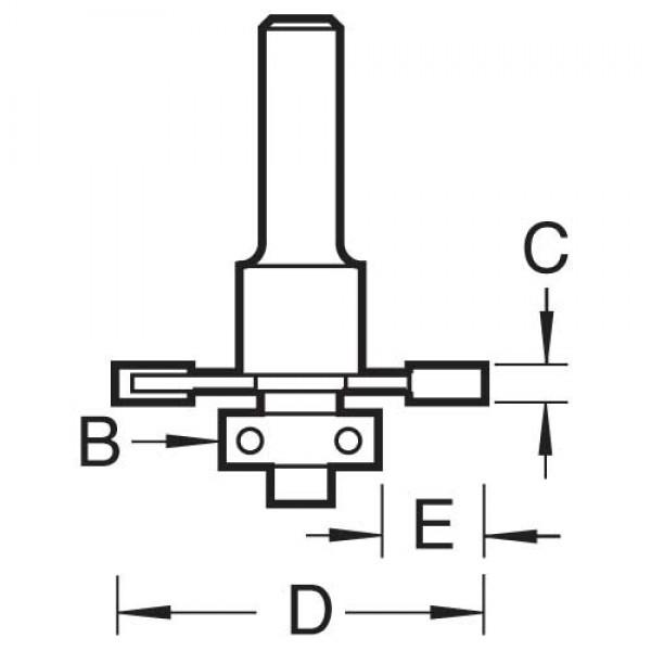 HM-Schlitzfräser D 31,8 x 6 S8