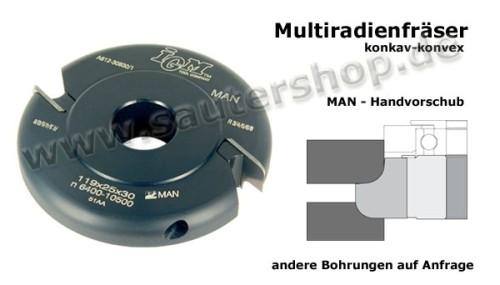 konkav-Konvex Multiradiusfräser
