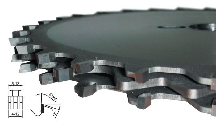 HM Dado Kreissägeblatt-Set zum Nuten D 200 mm