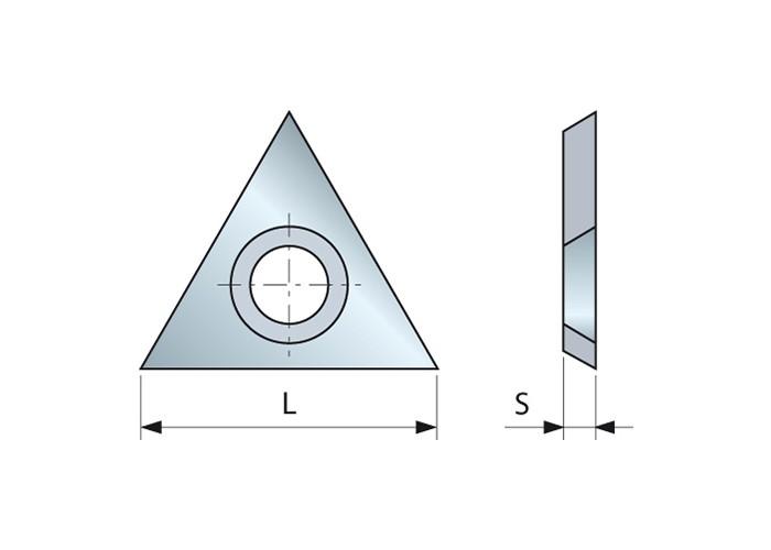 Dreieckiger HM-Vorschneider 22.86 x 2.5 mm