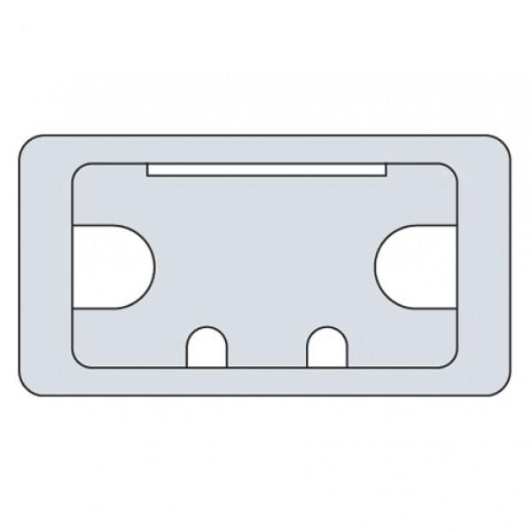 Kunststoffeinsatz f. Kabelkanal