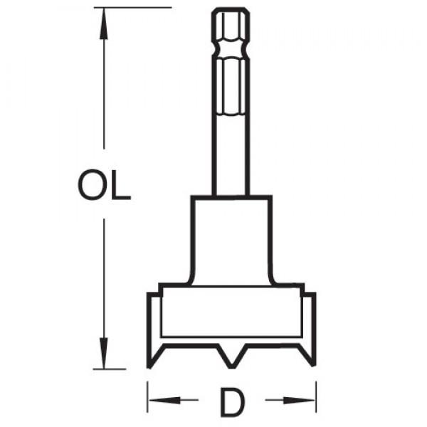 Topfbandbohrer D 40mm