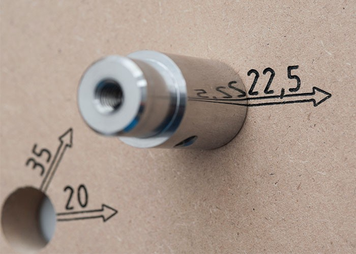 1 Paar Bankhaken für Vario-Bench - kurz