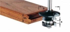 Konterprofilfräser Feder HW Schaft 8 mm HW S8 D43/21 A/KL