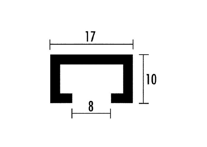sauter Profilschiene ELOXIERT - 800 mm