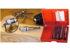 31-tlg. Bit-Kassette TORX & Magnetbithalter Set