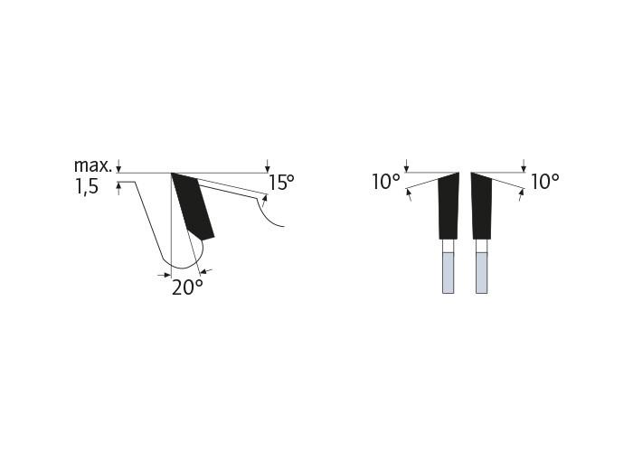 Kreissägeblatt HM 700 x 4,4/3,2 x 30 mm, Z=46