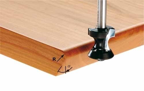Abrund-/Fasefräser HW Schaft 8 mm HW S8 D24/R6/45°