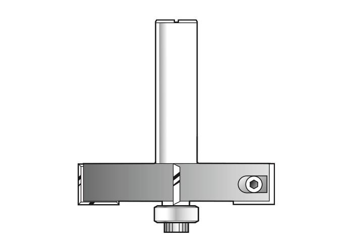 Wendeplatten-Falzfräser HW (HM) mit 1 Kugellager